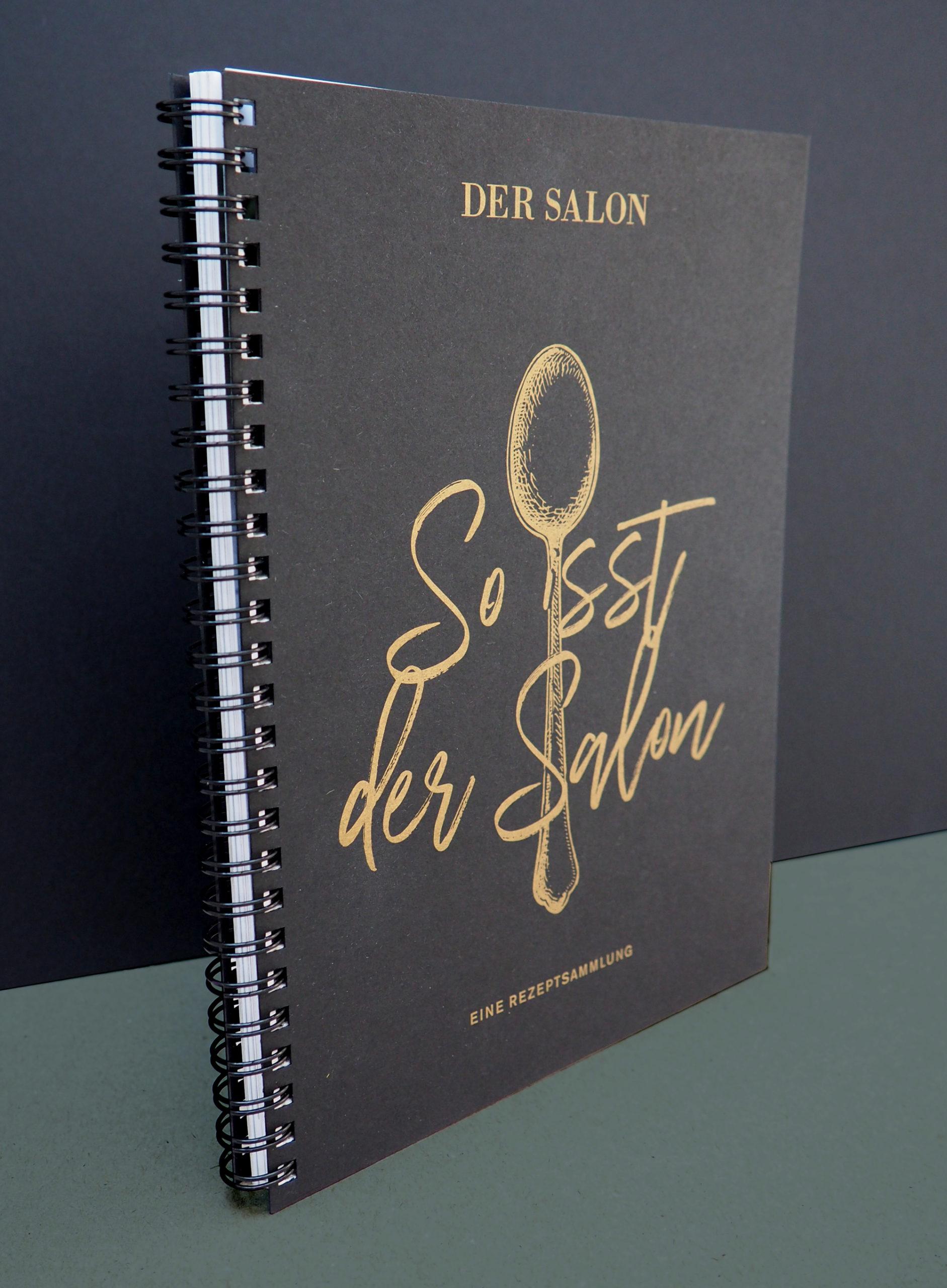 Studio dos, Grafikdesign Osnabrück, Der Salon Kochbuch Cover