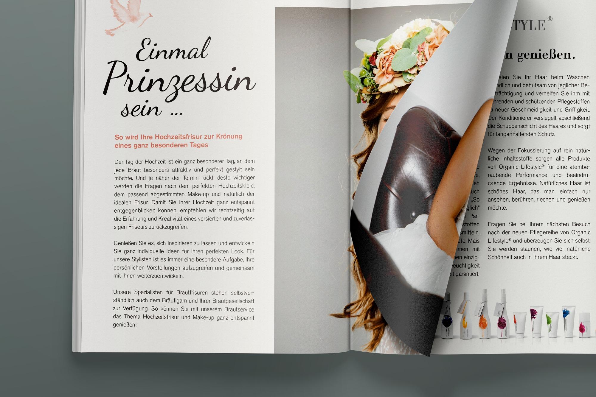 Studio dos, Grafikdesign Osnabrück, Der Salon Magazin Innenseite
