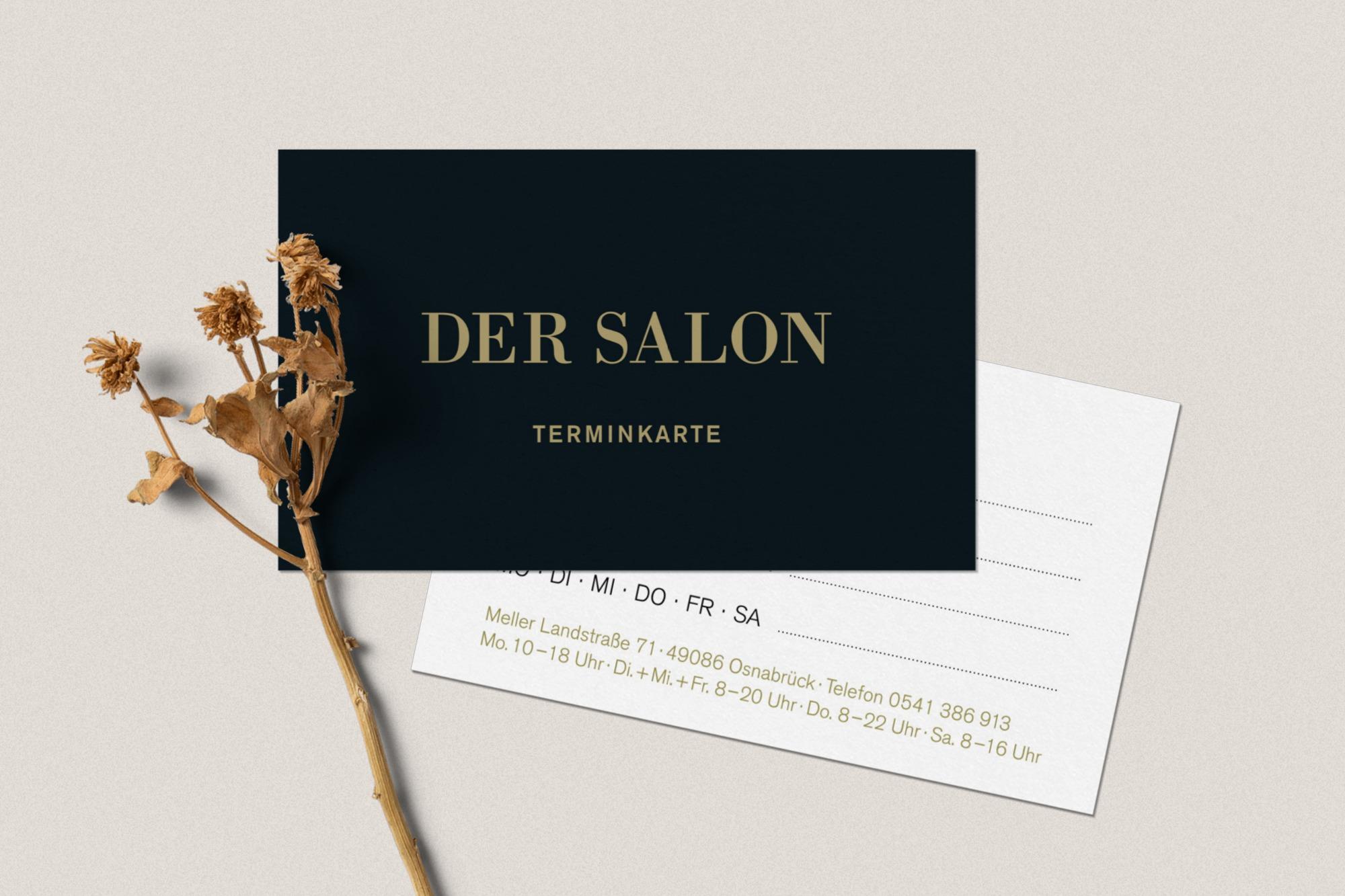Studio dos, Grafikdesign Osnabrück, Der Salon Terminkarten