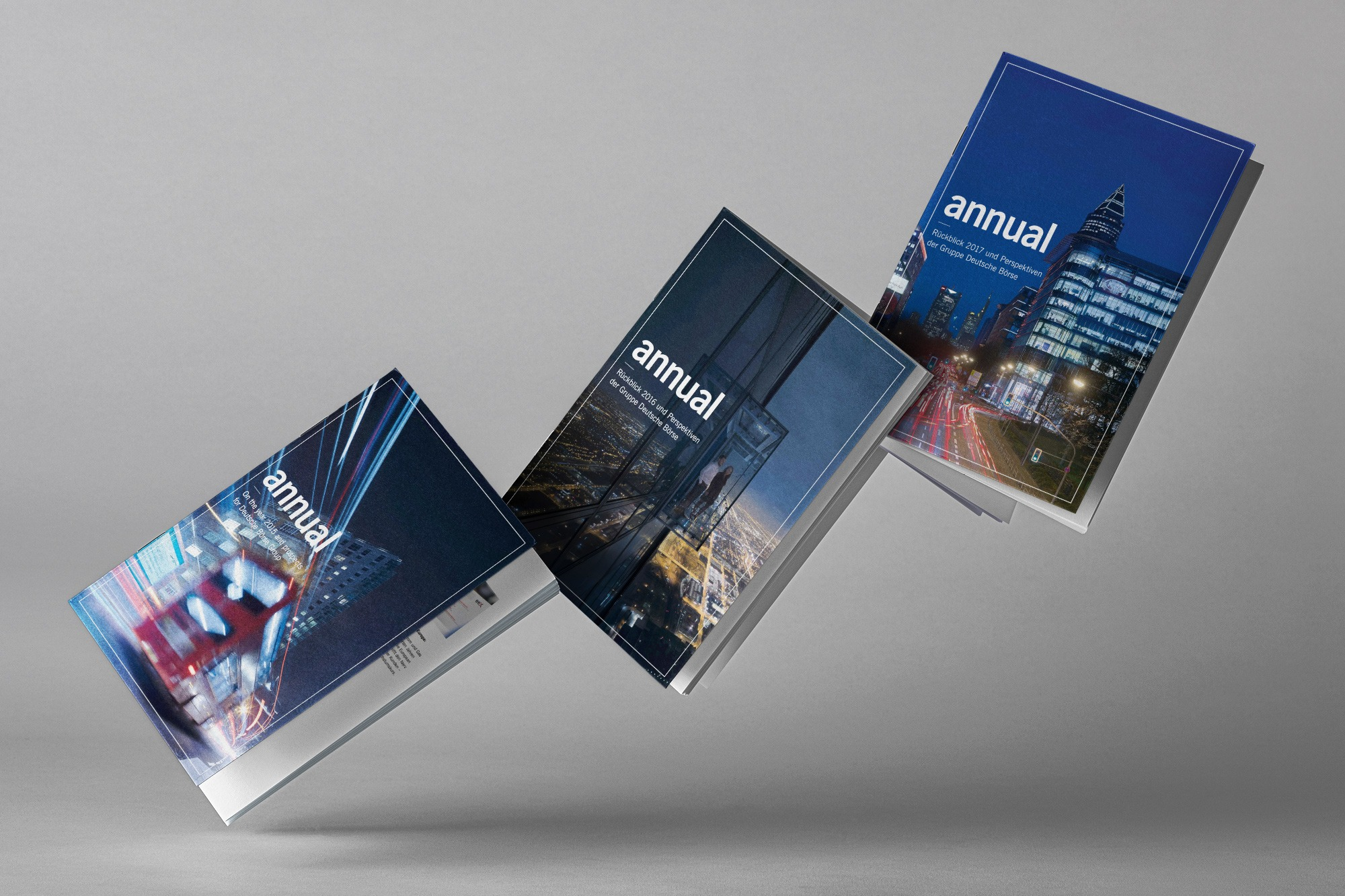 Studio dos, Grafikdesign Osnabrück, Gruppe Deutsche Börse Annual Cover