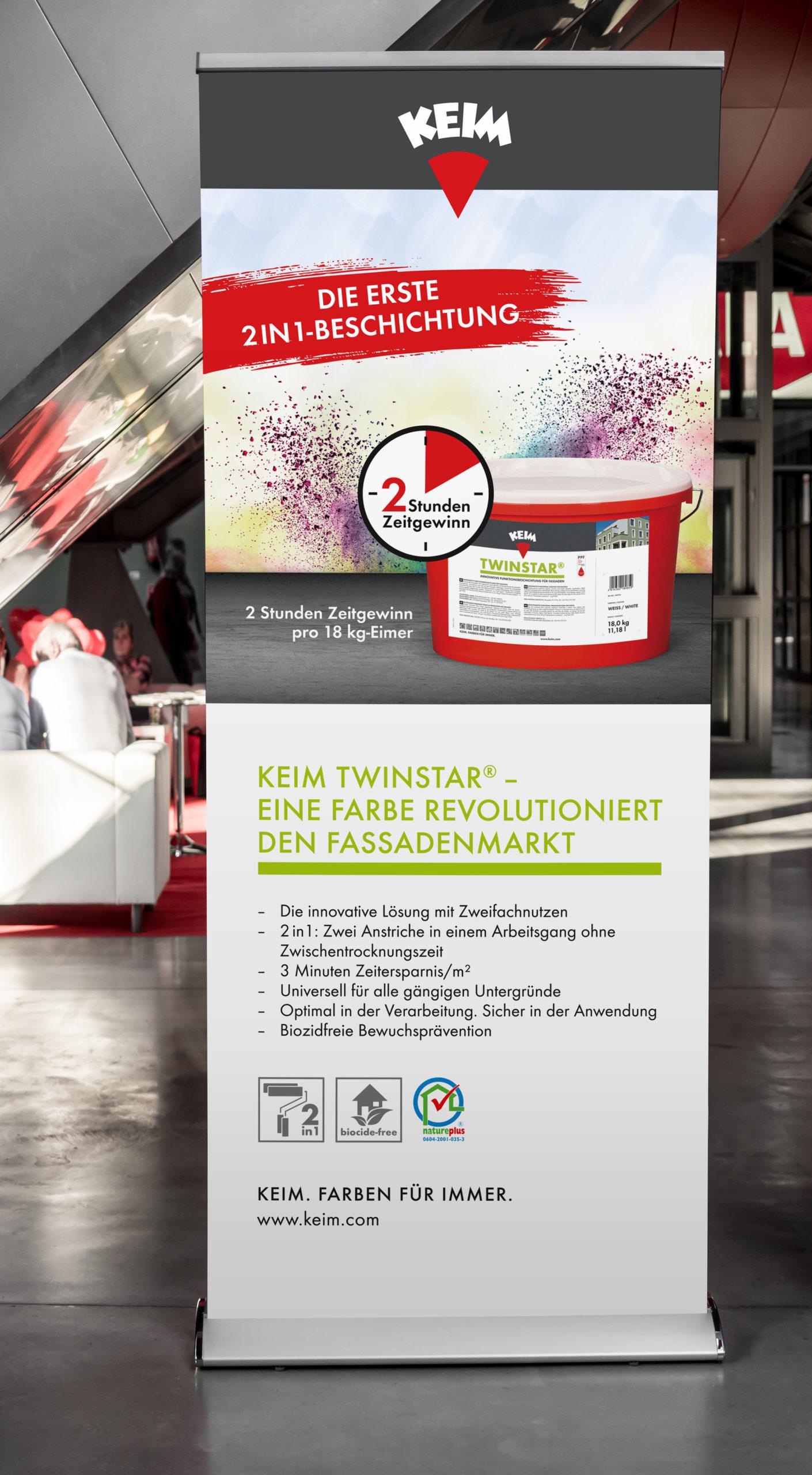 Studio dos, Grafikdesign Osnabrück, Keimfarben Twinstar Rollup