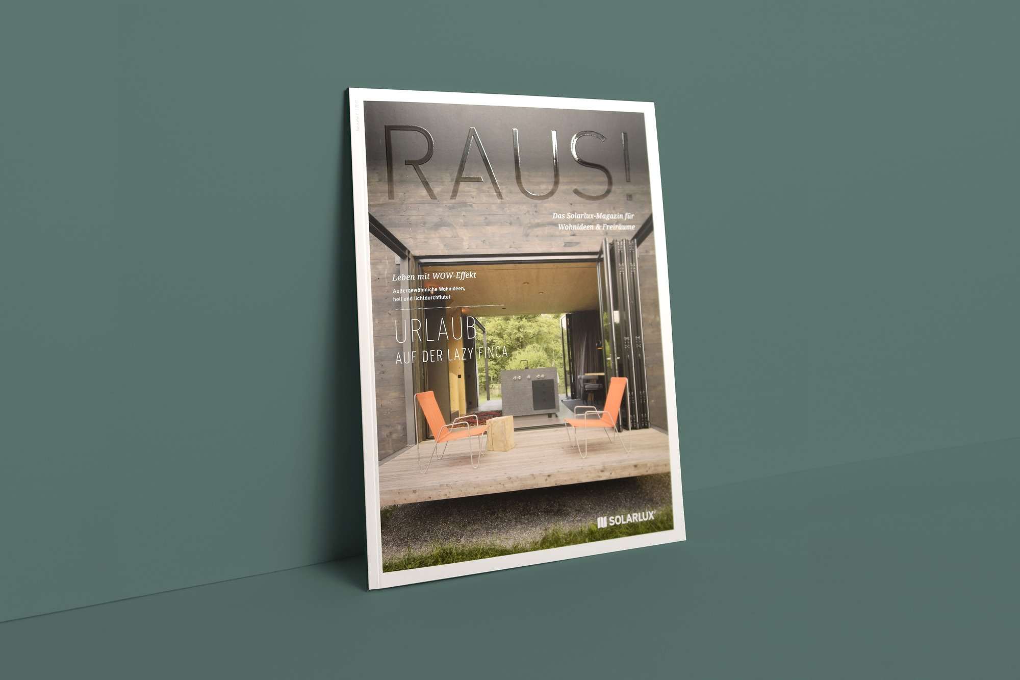 Studio dos, Grafikdesign Osnabrück, Solarlux Kundenmagazin Cover