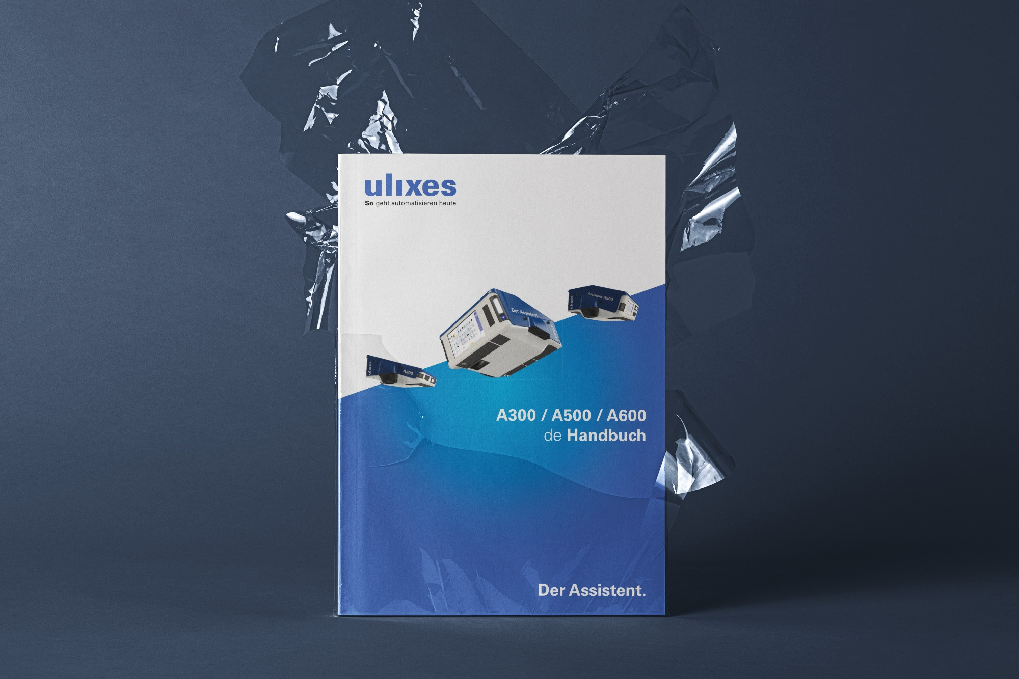 Studio dos, Grafikdesign Osnabrück, ulixes Robotersysteme Handbuch