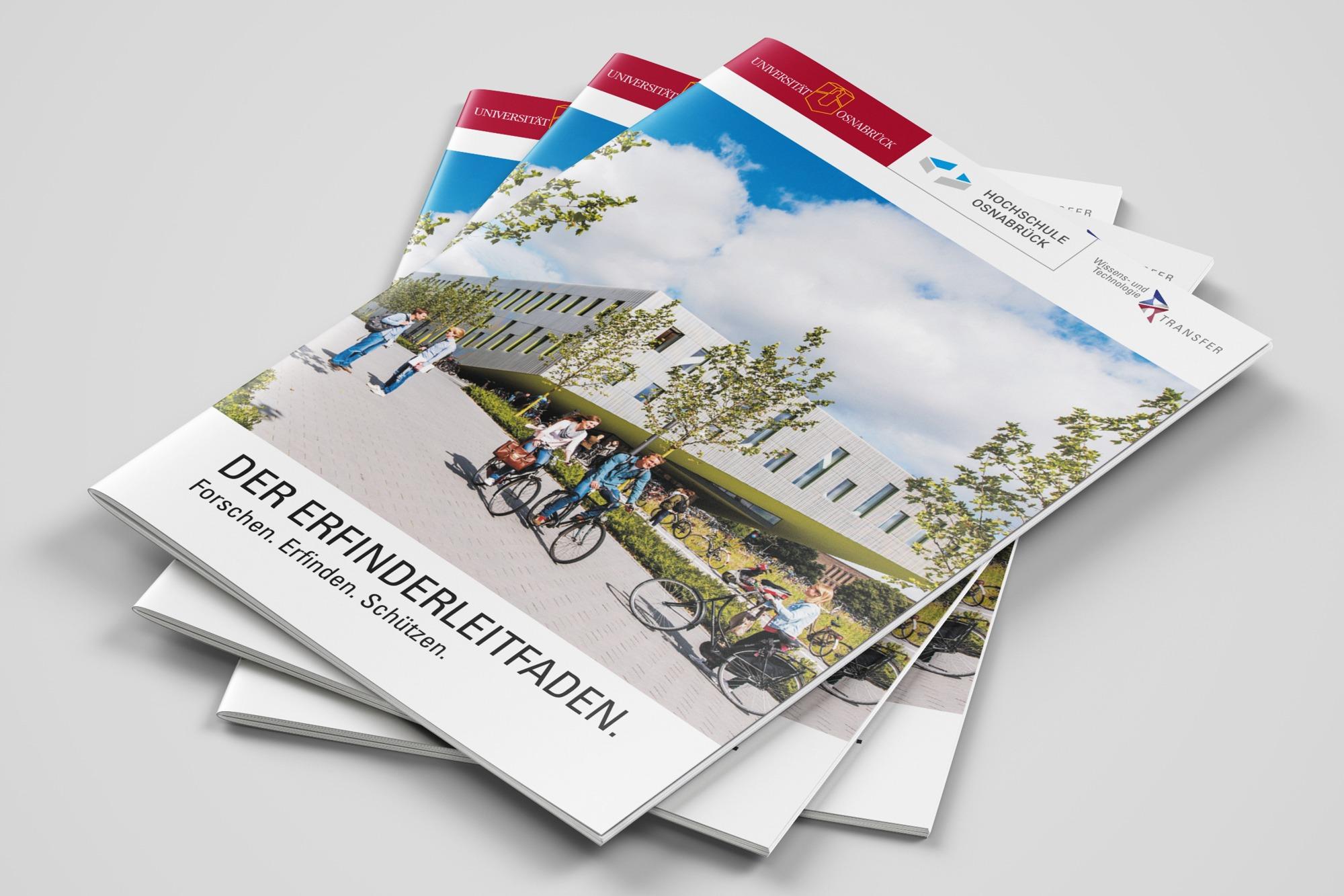 Studio dos, Grafikdesign Osnabrück, Wissens- und Technologietransfer Erfinderleitfaden Cover